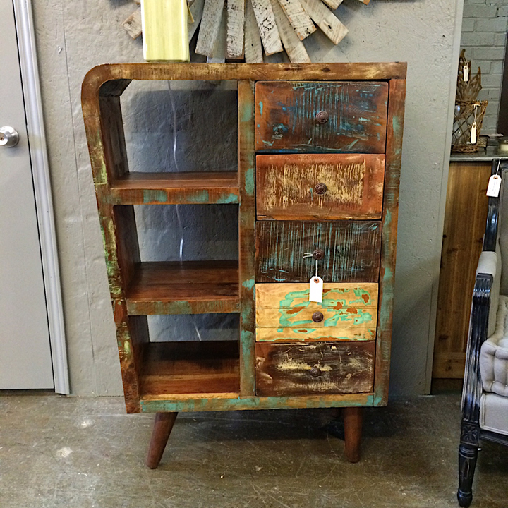 Funky Tall Retro Style Display Cabinet Kudzu Antiques