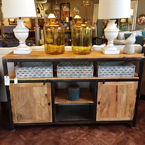 Merveilleux Rustic Industrial Console