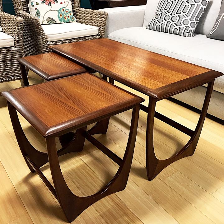 Gorgeous G Plan Nesting Coffee Table Set Kudzu Antiques