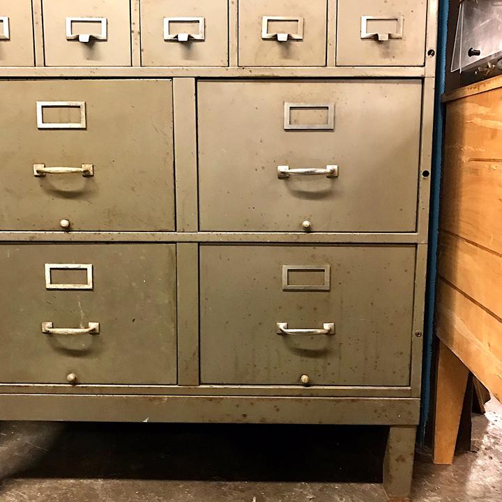 Industrial Multi Drawer Filing Cabinet Kudzu Antiques