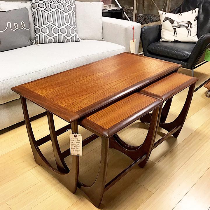 G Plan Vintage Coffee Tables: Gorgeous G Plan Nesting Coffee Table Set